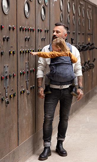 Babytrage Bondolino Plus Denim - Paps lieben sie
