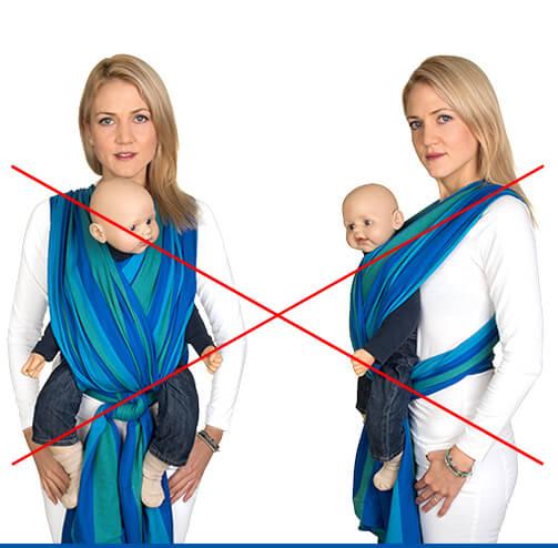Baby tragetuch binden