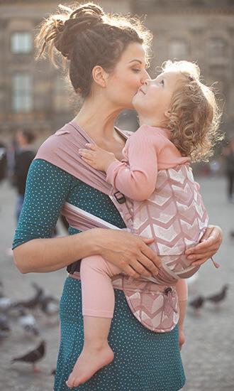 Babytrage Hop-Tye Buckle Amsterdam rose